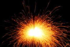 Sparks background Stock Photography