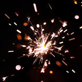Sparks of bengal fire Royalty Free Stock Photo