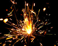Sparks of bengal light Stock Image