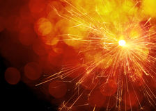 Sparks and Bokeh Background Stock Photography