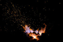 Sparks of bonfire. Stock Images