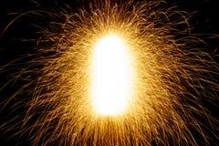 Sparks. Contrast sparks on black background stock photography