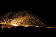Sparks in dark Royalty Free Stock Photo