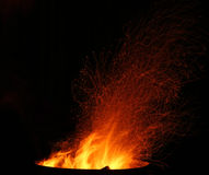 Sparks and Embers flying Royalty Free Stock Photos