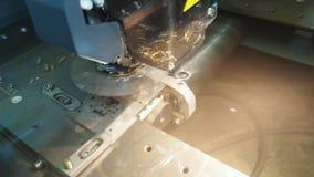 Sparks erosion edm machine working stock video