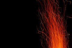 Sparks from the fire Royalty Free Stock Images