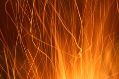 Sparks from a fire light trail Royalty Free Stock Photo