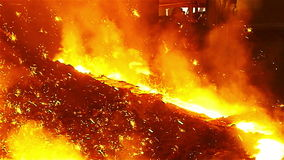 Sparks fire in manufacturing stock footage