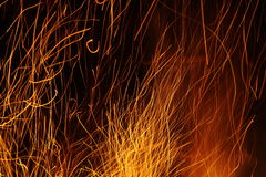 Sparks and fire Royalty Free Stock Image
