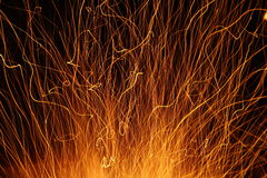 Sparks and fire Stock Photos