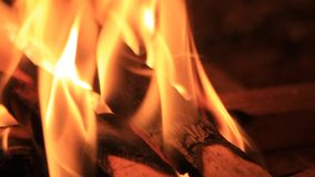 Sparks in a fireplace at home - energy stock video