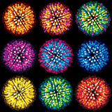 Sparks and Fireworks. Vector Collection Stock Photo