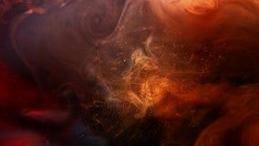 Sparks flow fantasy firework dark spreading fog. Sparks flow. Fantasy firework. Dark spreading abstract fog cloud stock video footage