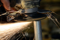Sparks fly Stock Image