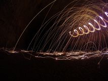 Sparks fly Royalty Free Stock Photography