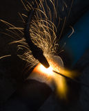 Sparks of the fused metal Royalty Free Stock Photos