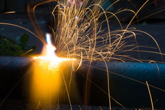 Sparks of the fused metal Royalty Free Stock Photography