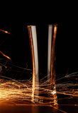 Sparks glass Royalty Free Stock Image