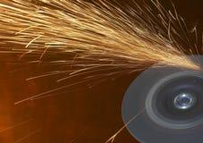 Sparks grinder Royalty Free Stock Image