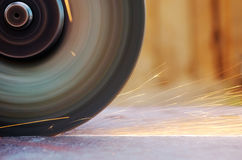 Sparks from grinder Royalty Free Stock Photo