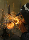 Sparks grinding Royalty Free Stock Images