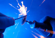 Sparks. Stock Image