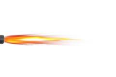 Sparks from the gun. The sparks from the gun on a white background royalty free illustration