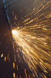 Sparks of the heated metal Royalty Free Stock Photos