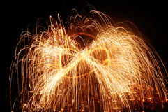 Sparks infinity Royalty Free Stock Photos