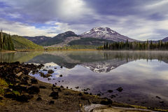 Sparks Lake in the Central Oregon Royalty Free Stock Photography