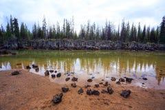 Sparks Lake Central Oregon Wilderness Stock Images
