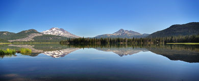 Sparks lake Reflection. At morninig time Stock Photo