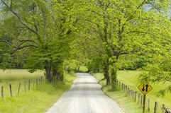 Sparks Lane in Cades Cove of Smoky Mountains, TN, USA. A scenic view of Sparks lane in Cades Cove of Great Smoky Mountains National Park, Tennessee, USA, in Royalty Free Stock Photography