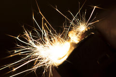 Sparks from a Lighter Stock Photos
