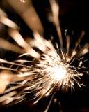 Sparks during metal cutting Stock Photos
