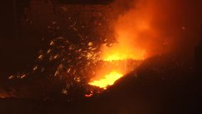 Sparks of molten metal stock footage