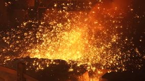 Sparks of molten metal stock video