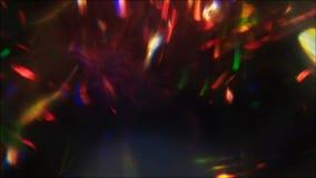 Sparks motion background prism effect multicolor. Sparks motion background. Prism effect. Multicolor flowing flecks on black stock video