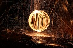 Sparks and orb of light painting