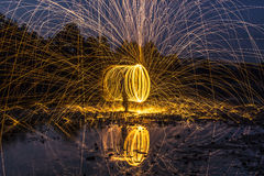 Sparks on the river Stock Photography