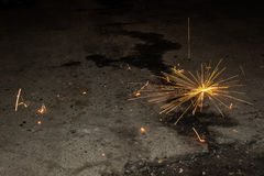 Sparks. A spark is an incandescent particle Such sparks may be produced by pyrotechnics, by metalworking or as a by-product of fires, especially when burning royalty free stock photos