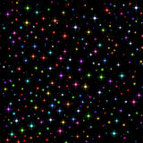 Sparks and Stars on Black, Seamless. Abstract Seamless Background, Shining Colorful Christmas Sparks and Stars on Black. Eps10, Contains Transparencies. Vector Royalty Free Stock Photo