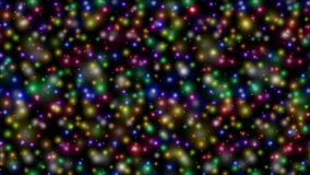 Sparks and Stars on Black, Seamless Loop stock video