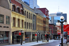 Sparks Street, downtown Ottawa, Canada Stock Photography