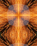 Sparks from welder's grinder5. Kaleidoscope cross from photo of sparks from welder grindin metal Royalty Free Stock Images