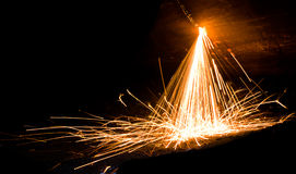 Sparks from welding. Of metal Stock Image