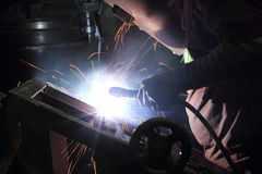 Sparks from welding Royalty Free Stock Photography