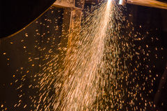 Sparks from Welding Royalty Free Stock Images