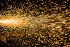 Sparks from Welding Stock Image