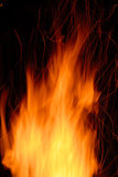 Sparky flames Royalty Free Stock Image